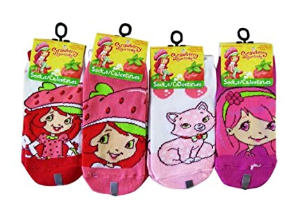 Strawberry Shortcake Girls Ankle Socks (2 pairs)- Girls socks