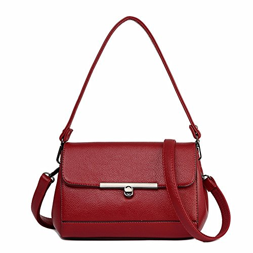 al Bolso rojo Rojo Mujer Hombro Oscuro Rojo BMKWSG para oscuro x5nqfwSAS1