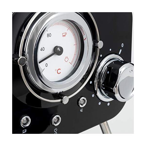 IKOHS THERA RETRO - Macchina del Caffè Express per caffè espresso e cappuccino, 1100 W, 15 bar, vaporizzatore regolabile… 6