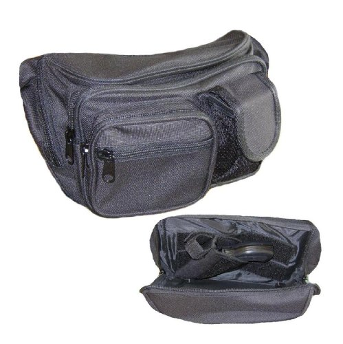 Concealed Carry Pistol Bag - Black Gun Concealment Fanny Pack - Fits up to 50 in Waist from Everest