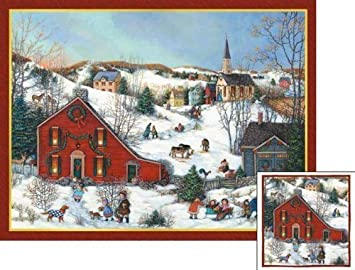 christmas saltbox deluxe boxed christmas cards by lang