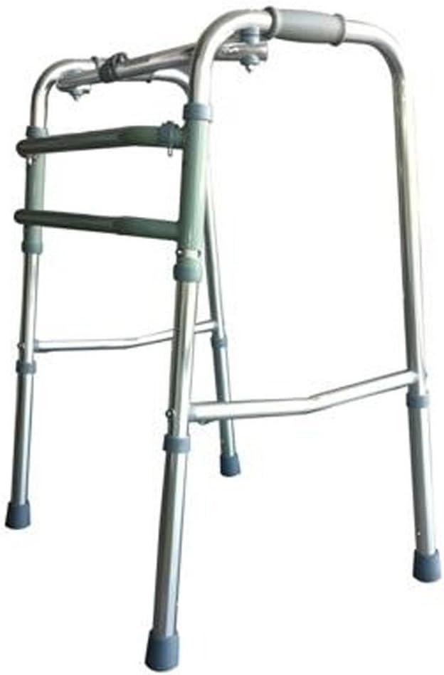 Mobiclinic, Modelo Mezquita, Andador para ancianos, mayores, adultos o minusvalidos, de aluminio, ligero, plegable, con asiento y sin ruedas, Color Gris