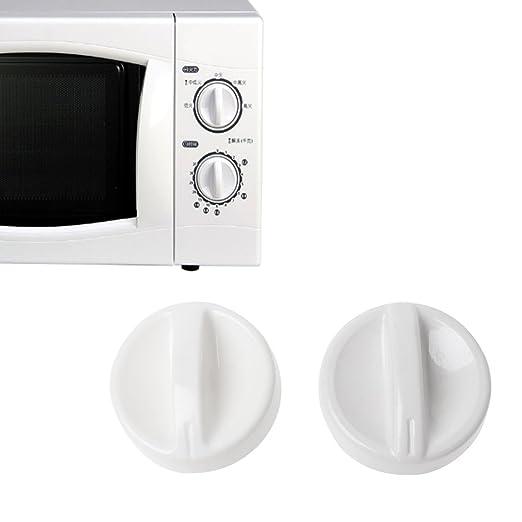 cuigu 2 pieza universal de microondas de Knob, plástico de deriva de temporizador Knob Interruptor Controler, para medios/LG/Haier/Panasonic/Samsung
