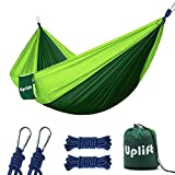 excellent patio tent with net Uplift Double Camping Hammock,Portable Lightweight Heavy Duty Parachute Nylon Hammocks for Yard Backpacking Travel Beach Patio,with Two 9.8 ft Straps, Support 600 lbs Capacity