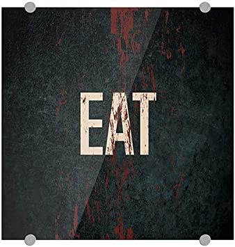 Eat CGSignLab 16x16 Ghost Aged Rust Premium Acrylic Sign
