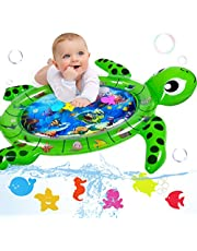 Infinno Tummy Time Mat Premium Baby Water Play Mat Baby Toys 3 6 9 12 Months for Infants Newborns and Toddlers Activity Play Center, Strengthen Your Babies' Muscles in Daily Fun Time, Turtle, XLarge