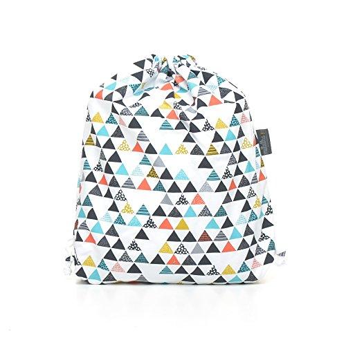milutka Baby Hausschuhe/Tasche Gym für Kinder Dreiecke