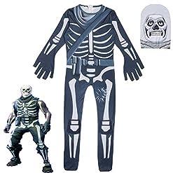 - 51NbQ7cIo2L - Weyingle Kid Gingerbread Man Skull Trooper Skin Decoration Boys Character Clown Cosplay Clothes Christmas Costume