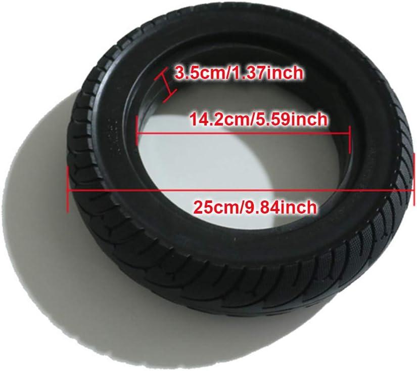 Eli-CHANBG 10 der explosionssicheren schlauchlosen Vollreifen f/ür den Elektroroller faltet Elektroauto unter Verwendung erweitert 2.5 Vollreifen 10 Zoll