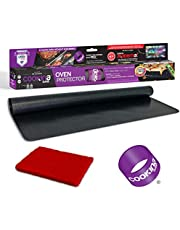 Cookina GARD Reusable Oven Protector - 100% Non-Stick Oven Liner, Easy to Clean, Spills and Splatters Protection, Suitable for Gas, Toasters, Electric and Convection Ovens and Microwave - 15.75x22.83-inch, Black