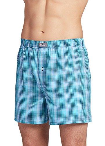 (Jockey Men's Underwear Woven Boxer, Springtime Plaid, S )