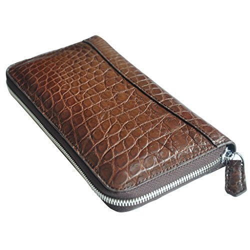 CROCUST Luxury Crocodile Leather Women's Clutch Purse Crocodile Skin Clutch Bag Designer Long Wallet by FOUR-C