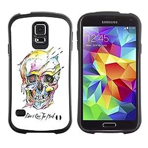 Paccase / Suave TPU GEL Caso Carcasa de Protección Funda para - Watercolor Skull White Death Robot - Samsung Galaxy S5 SM-G900
