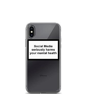 Stigma Sticker Social Media Seriously Harms Your Mental Health Phone