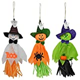 Gosear 3 PCS 3 Styles Vivid Styling Halloween Hanging Ghost Haunted House Escape Horror Halloween Decoration Props