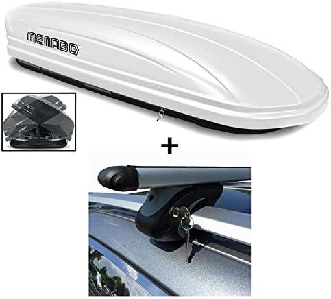 Dachbox Weiß Vdp Maa580 Duo Großer Dachkoffer Abschließbar Alu Relingträger Dachgepäckträger 580 Liter Kompatibel Mit Vw Sharan Ab 96 Auto
