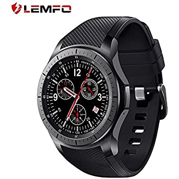 LEMFO LF16 Smart Watch Cell Phone Android 5.1 MTK6580 Quad Core 3G WIFI GPS Heart Rate Monitor Smartwatch All-in-One (Black)