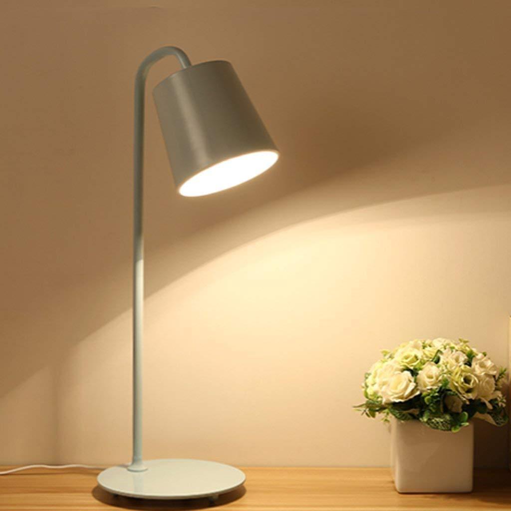Elegante Tischleuchte Europäische Grünraglich vereinbarte kreative Art und weiße, Schmiedeeisen-Bett-Lampe, geführtes ländliches süßes Schlafzimmer Energiesparlampen Mehrfarbenwahlweiße Schreibtischla