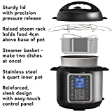 MultiPot 9-in-1 Programmable Pressure Cooker 6 Quarts by Mealthy - Stainless Steel Pot, steamer basket, silicon mitts, instant access to recipe app! Pressure cook, slow cook, sauté, rice cooker etc.