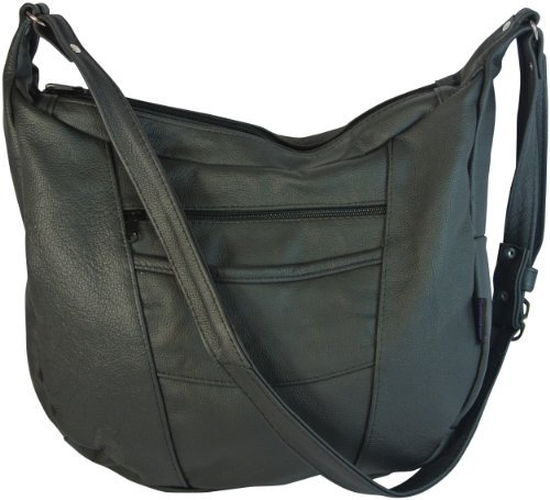 Texcyngoods Leather Concealed Carry Purse LARGE Hobo Hand...