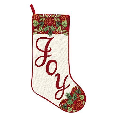 Needlepoint Stocking - Joy by C & F Enterprises