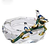 SSBY European Style Crystal Glass Ashtray Creative Personality Office Living Room Personality Bar Fashion
