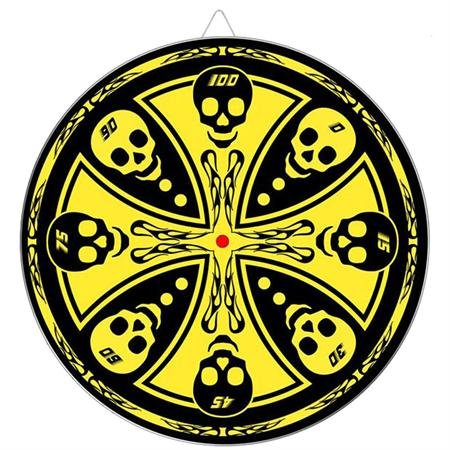 Knife Darts (Maltese Cross Skull Throwing Knife Target Dart Board)