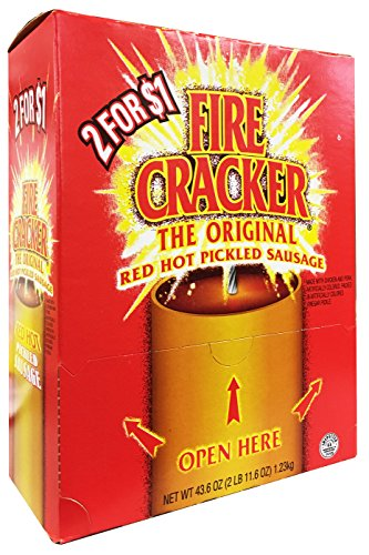 Gourmet Pickled Food (Penrose Fire Cracker Original Red Hot Pickled Sausage - Mouthwatering Flavor, Ready to Eat - Box of 50 Sachet)