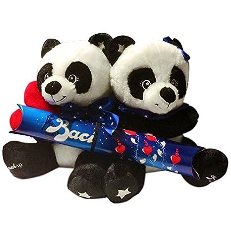 Peluche Coppia Di Panda Con Baci Perugina Cioccolatini Cioccolata