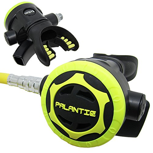 Scuba Choice Palantic AS206 Black/Yellow Second Stage Regulator Octopus with 36