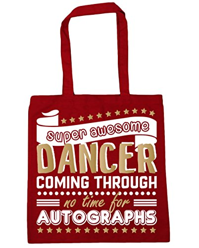 litres x38cm Autographs Red Dancer 10 Awesome Gym Classic HippoWarehouse 42cm For Coming Super No Through Dancing Tote Shopping Time Bag Beach Rf8pacS