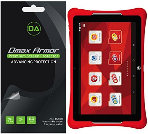 Dmax Armor [3-Pack] for Nabi Elev-8 (8 inch Tablet) Screen Protector, Anti-Bubble High Definition Clear Shield (Nabi Screen Protector)