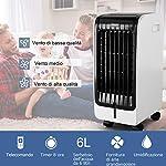 COSTWAY-Condizionatore-Climatizzatore-Portatile-Raffrescatore-Evaporativo-con-Telecomando-Funzione-Raffreddatore-e-Umidificatore-Serbatoio-Acqua-6L-230V