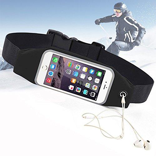 Pochette plátano Tour de talla impermeable bolsa de deporte ESS Tech® para iPhone 6y Samsung S6Edge negro