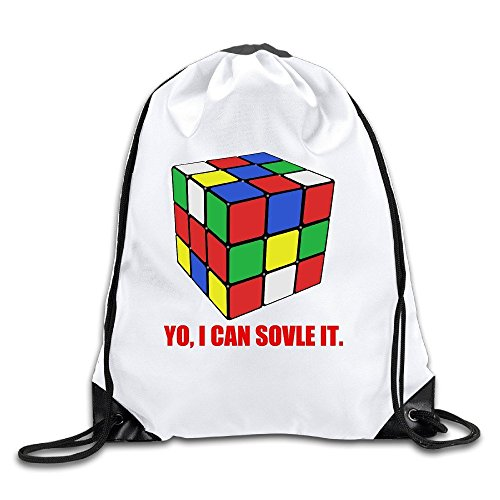 Price comparison product image I Can Solve It Rubix Cube 100% Polyester Fiber Drawstring Backpack Bag One Size