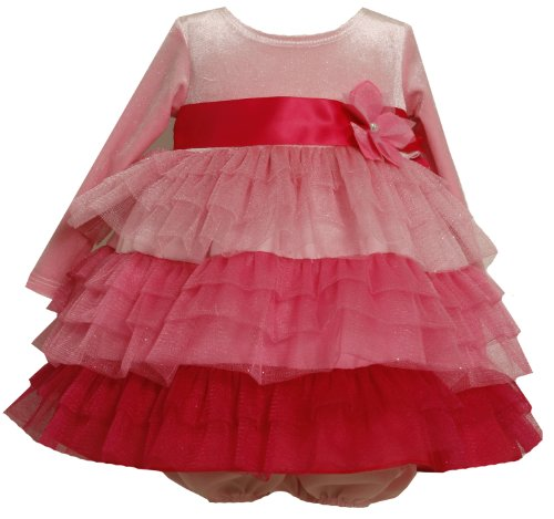 Bonnie Baby Girls' Shades Of Pink Tiered Dress