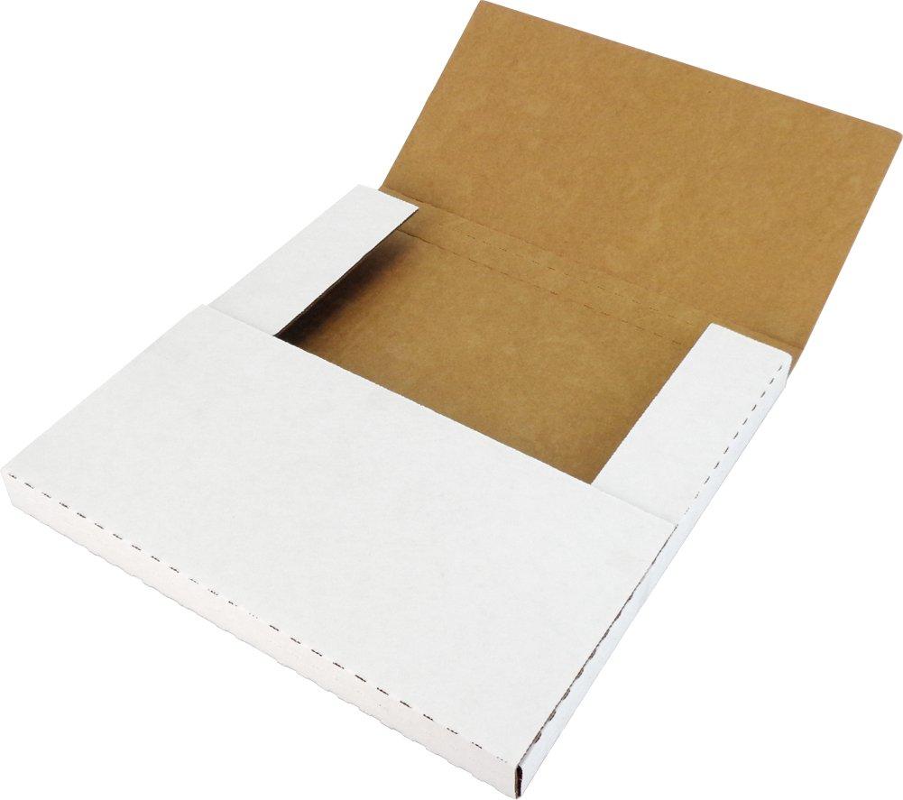 (25) White 1-3 Vinyl 12'' Record Cardboard Multi-Depth Mailers