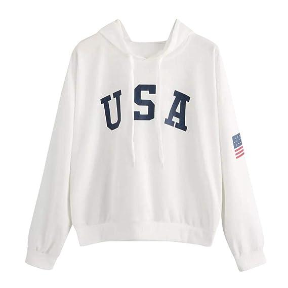 Camiseta con Capucha para Mujer, Sudadera con Estampado de Letras Letter Sudadera con Capucha SunGren