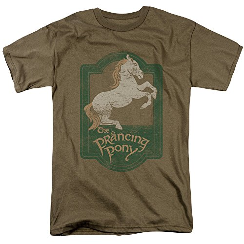 (The Lord Of The Rings Trilogy The Prancing Pony Vintage Style Movie Adult Tee)