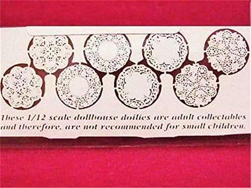 (8 DOLLHOUSE Paper Lace Doilies jk110 Jeannetta Kendall Make Valentines)