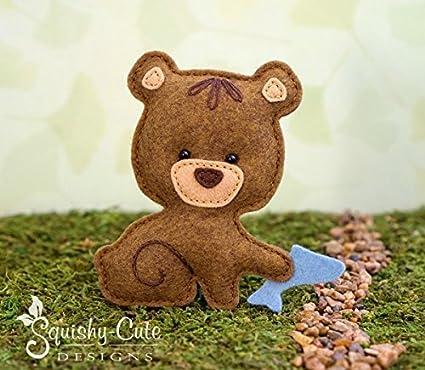Amazon.com: Bear Sewing Pattern - Woodland Stuffed Animal Felt ...