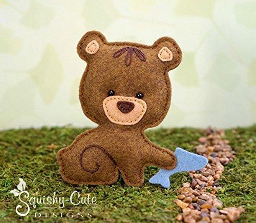 Bear Sewing Pattern - Woodland Stuffed Animal Felt Plushie Pattern & Tutorial