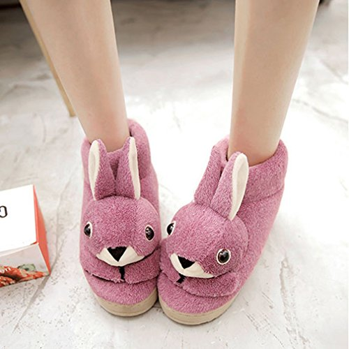House Winter slip Rabbit Slippers Womens GIY Indoor Slippers Purple Cute Plush Cozy Cartoon Slipper Anti Bootie 7wx55Spq