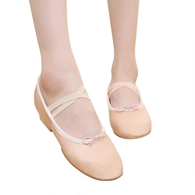 Amazon.com: Hot!Ninasill - Zapatillas de baile, de piel ...