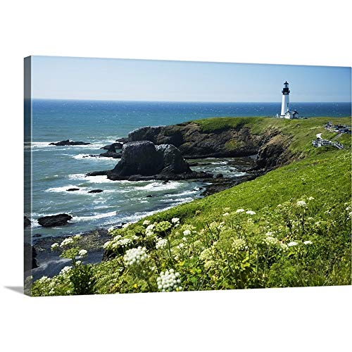 (Oregon, Central Coast, Yaquina Head Historic Lighthouse and Natural Wilderness Area Canvas)