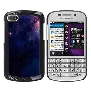 YOYOYO Smartphone Protección Defender Duro Negro Funda Imagen Diseño Carcasa Tapa Case Skin Cover Para BlackBerry Q10 - espacio estrellas púrpuras noche misteriosa
