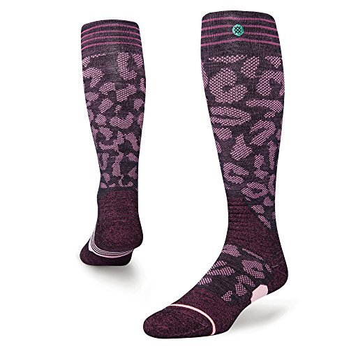 Calcetines Snowboard Para Mujer Stance Queen Backcountry Wine (S , Rojo)