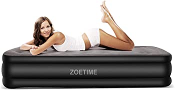 Zoetime Queen Size Air Mattress Raised Blow Up Elevated Inflatable Airbed