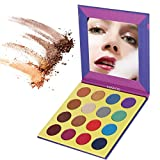 MISKOS 16 Color Purple Bright Pigmented Eyeshadow Palette Cruelty Free 8 Shimmer 8 Matte Smoky Warm Eye Shadows Nature Waterproof Eye Makeup Kit