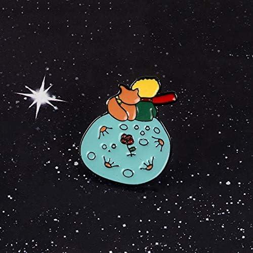 ROUボーリング大人しません! 星の王子さま 惑星を星の王子さまフォックスローズ古典童話ハードエナメルブローチピン